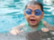 child, goggles, swimming pool, swim