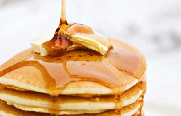 pancakes, syrup
