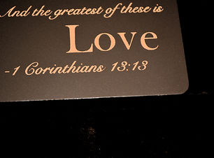 and the greatest of these is love, Corinthians, love
