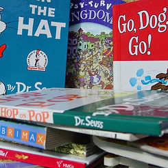 Dr. Seuss, books, library