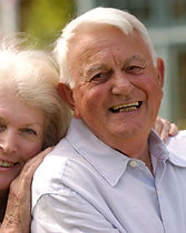 elderly, couple, smiling