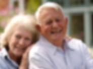 elderly couple, smiling, seniors