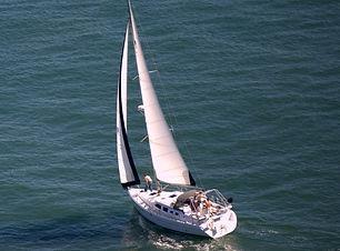 sailboat, lake, wind