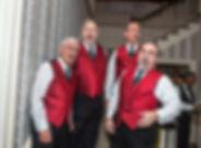 barbershop quartet, men, singing, a cappella