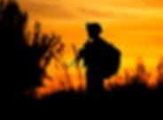 soldier, Marine, sunset, walking