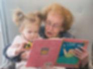 reading, grandma, child, literacy