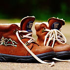hiking boots, shoe, laces