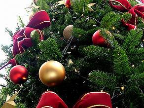 Christmas tree, ornaments