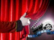 theater, movie, curtain