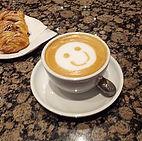 coffee, smile, cream