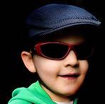 boy, hat, glasses
