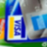 credit cards visa, american express