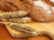 bread, grain, cutting board