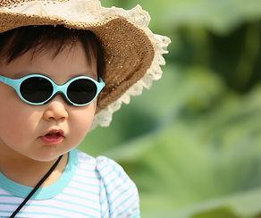 girl, glasses, sunglasses, straw hat