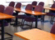 desks, classroom, tables