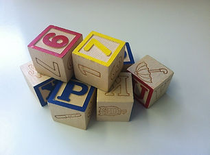wooden blocks, alphabet, letters
