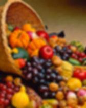 cornocopia, fruits, vegetables