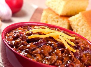 bowl of chili, cheese