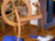 spinning wheel, wool