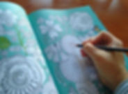 coloring, book, at