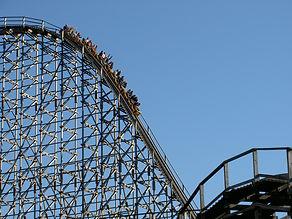 amusement park, roller coaster