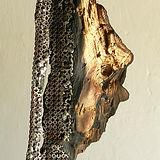 sculpture bois et metal claudine borsotti