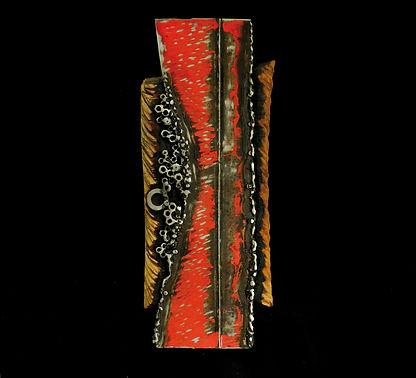 Sculpture metal et bois Claudine Borsotti Apt Luberon Provence