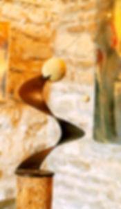 Sculpture métal et pierre Claudine Borsotti Gordes Luberon Provence