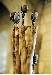 Sculptures de Claudine Borsotti. Exposition Gordes. Luberon.