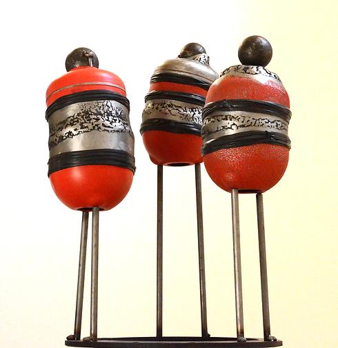 Sculpture metal 60 cm claudine borsotti Apt luberon Location entreprises et particuliers
