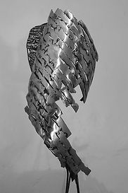 claudine borsotti sculpture metal iron l