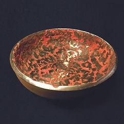 coupe sonore en métal effet marbré couleur claudine borsotti sculpteure