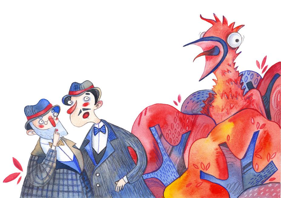 Illustrations for Limericks by Edward Lear
