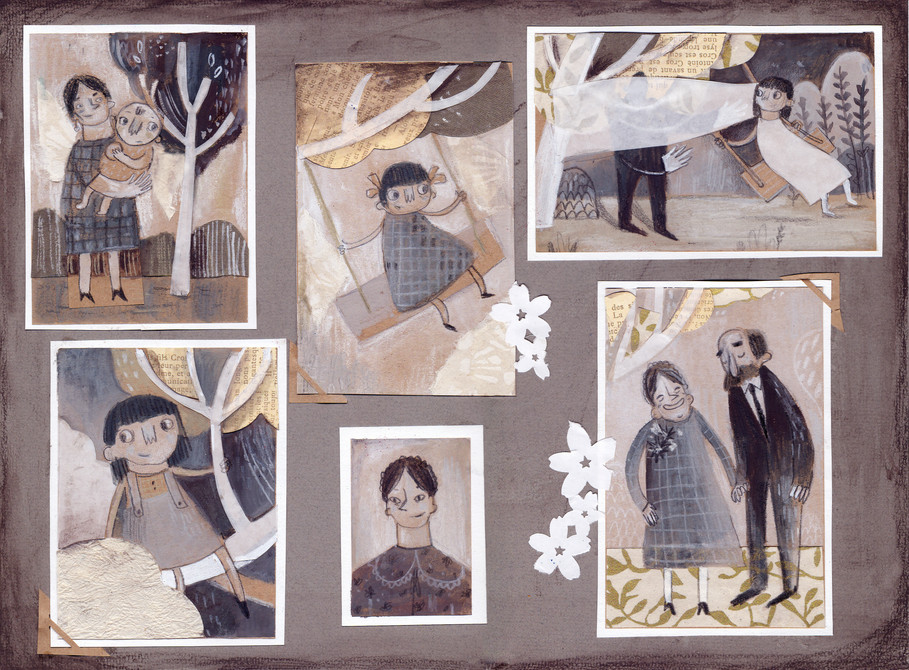 Illustrations for My Grandfather was a Cherry Tree by Angela Nanetti