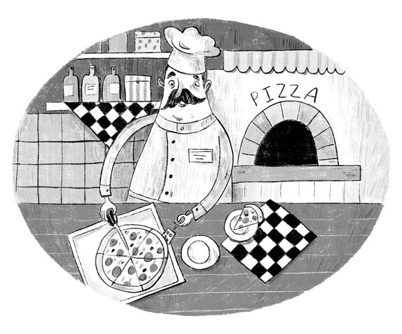 Pizzeria2019 - Signorina Cinnamon by Luigi Ballerini, published by KompasGid, Moscow