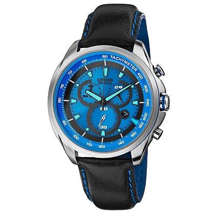 Citizen Watch Strap Black w/Blue Acent 22MM Specialty Part # 59-S52716