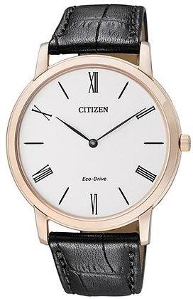 Citizen Watch Strap Black Leather Part # 59-S52174