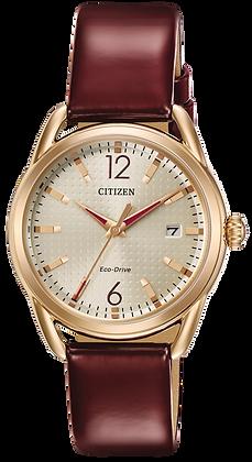 Citizen Watch Strap Burgundy Leather Part # 59-S53613