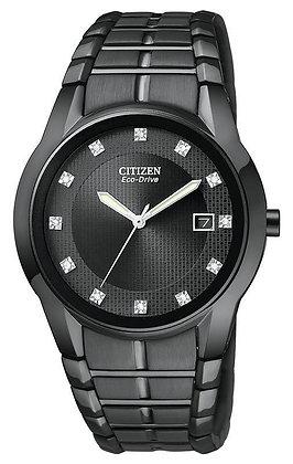 Citizen Watch Bracelet Black Tone Stainless Steel Part # 59-S04362