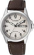 Citizen Watch Strap Brown Leather Part # 59-S53285