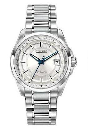 Citizen Watch Bracelet Silver Tone Stainless Steel Signature Part # 59-S04888