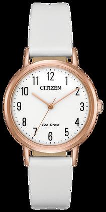 Citizen Watch Strap White Leather Part # 59-R50247