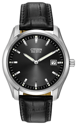 Citizen Watch Band Black Leather 20MM Part # 59-S52215