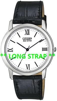 Citizen Watch Strap Black Leather 19 MM LONG Part # 59-T50054LS