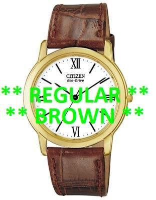 Citizen Watch Strap Brown Crocodile Leather 19 MM Part # 59-S50413