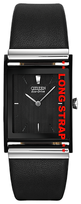 Citizen Watch Band Black Leather Smooth 23MM LONG Part # 59-S50238L
