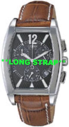 Citizen Watch Strap Brown Leather 18 MM LONG part # 59-S50263LS