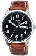 Citizen Watch Band Brown Leather 20MM Part # 59-S50682