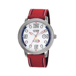 Citizen Watch Strap Red Canvas w/ White & Blue Stitching Part # 59-S52854