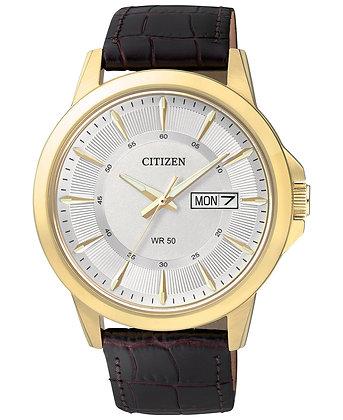 Citizen Watch Strap Dark Brown Leather Part 59-BF2018-01A